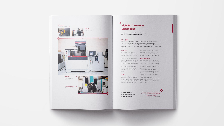 EDM Zone brochure - design for print