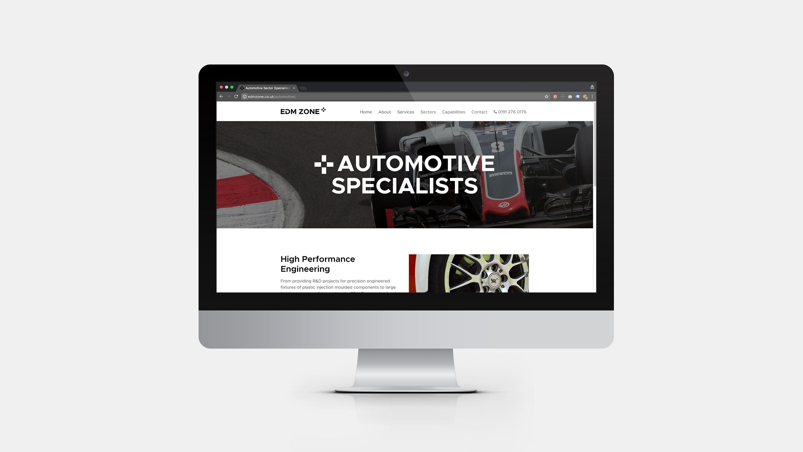 EDM Zone responsive website design