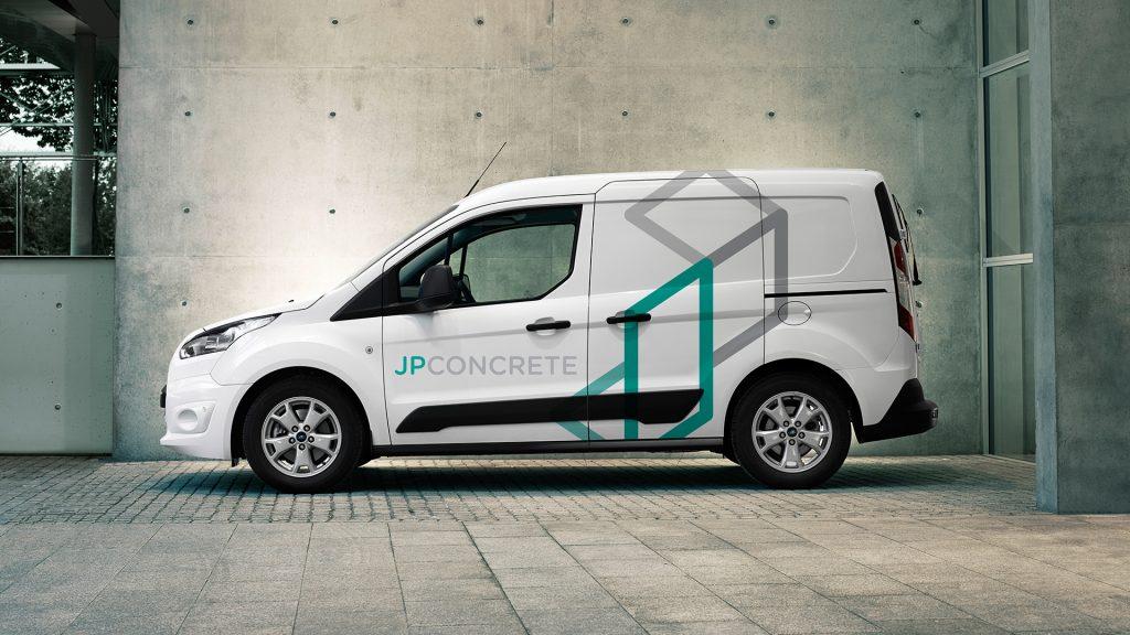 JP Concrete vehicle graphics design