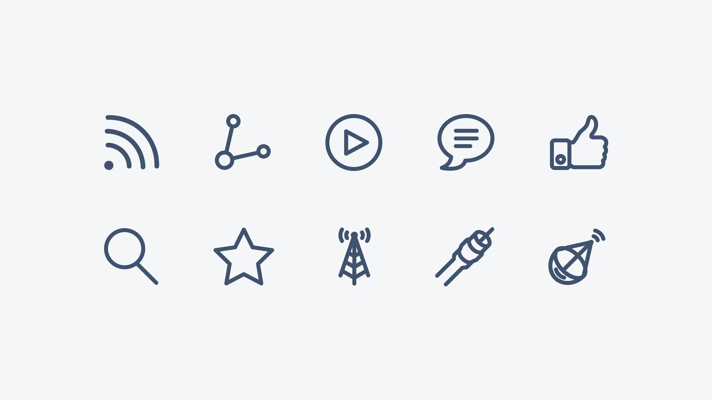 Mobicast icon design