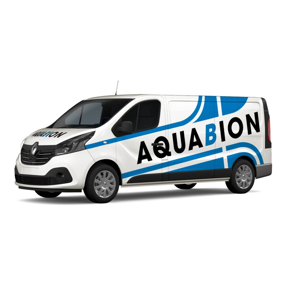 Design for Print - Aquabion vehicle graphics