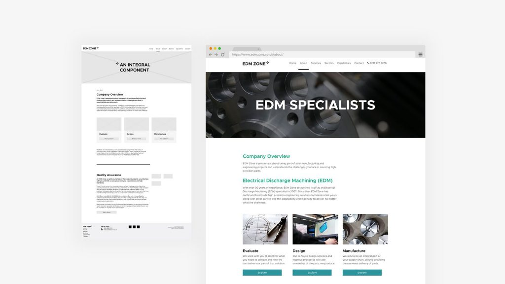 edm zone website design